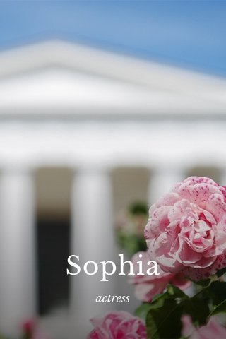 Sophia actress