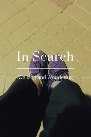 In Search Walking and Wondering