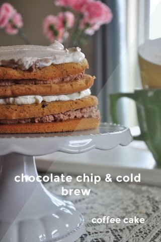 chocolate chip & cold brew coffee cake