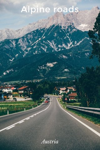 Alpine roads Austria