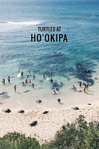 HO'OKIPA TURTLES AT