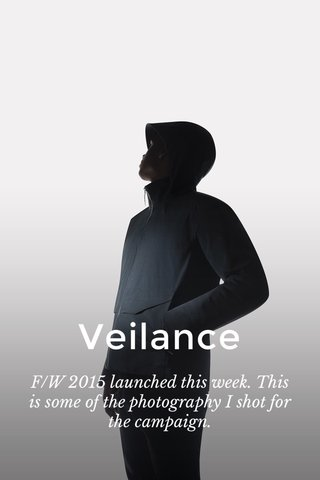 Veilance F/W 2015 launched this week. This is some of the photography I shot for the campaign.
