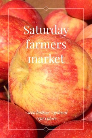 Saturday farmers market #seewhatisee #golocal #goexplore