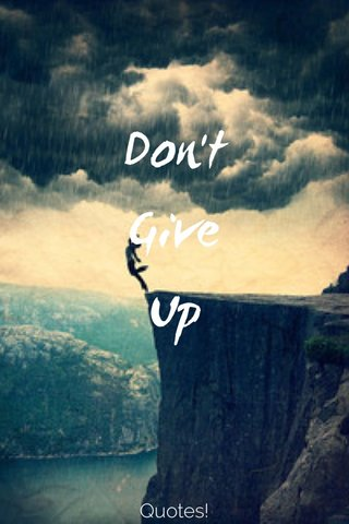 Don't Give Up Quotes!