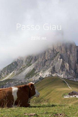 Passo Giau 2236 mt.