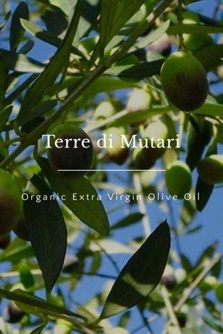 Terre di Mutari Organic Extra Virgin Olive Oil