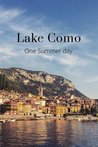 Lake Como One Summer day