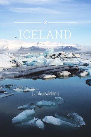 ICELAND | Jökulsárlón |