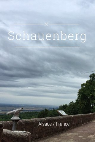 Schauenberg Alsace / France