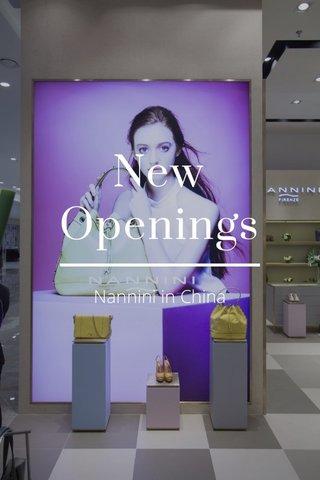 New Openings Nannini in China