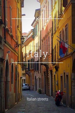 Italy Italian streets