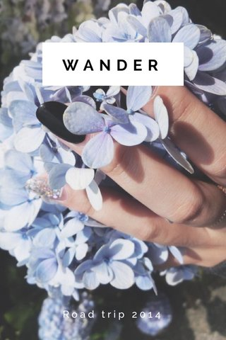 WANDER Road trip 2014