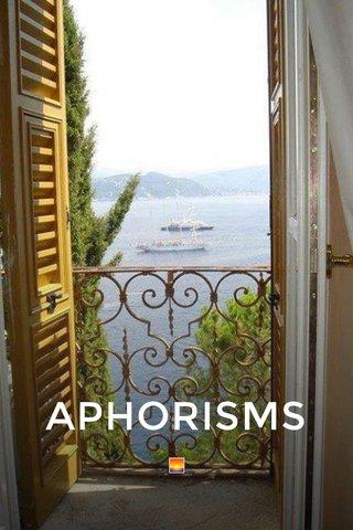 APHORISMS 🌅