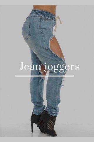 Jean joggers