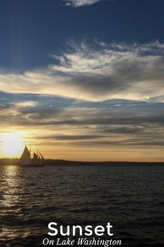 Sunset On Lake Washington