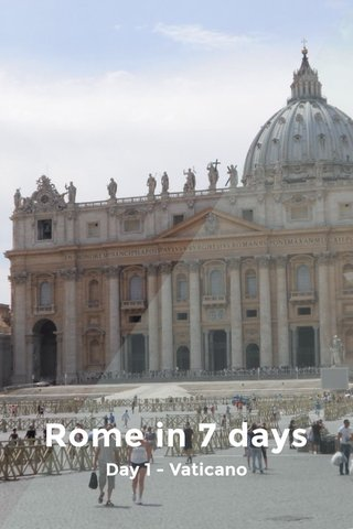 Rome in 7 days Day 1 - Vaticano