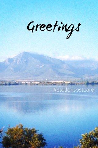 Greetings #stellerpostcard