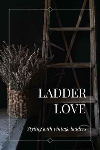 LADDER LOVE Styling with vintage ladders