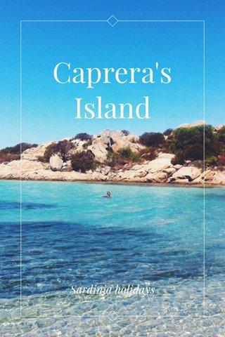 Caprera's Island Sardinia holidays