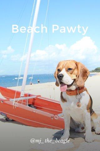 Beach Pawty @mj_the_beagle