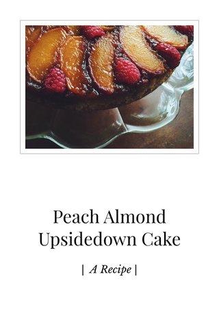 Peach Almond Upsidedown Cake