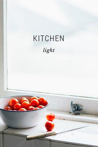 KITCHEN light
