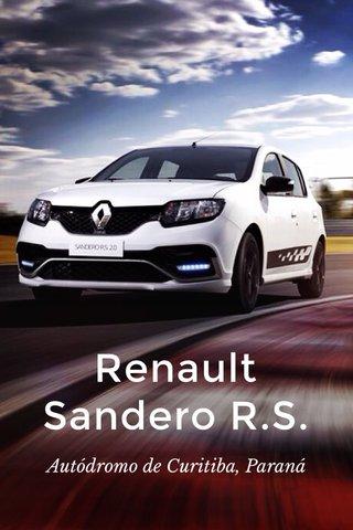Renault Sandero R.S. Autódromo de Curitiba, Paraná