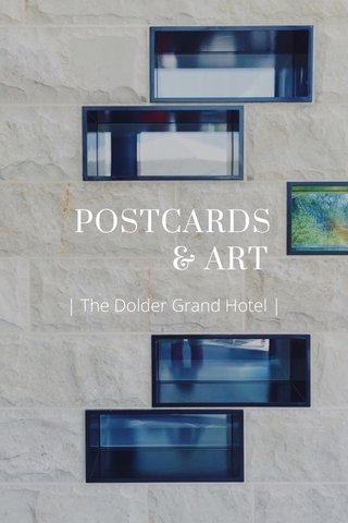 POSTCARDS & ART   The Dolder Grand Hotel  