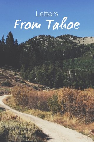 From Tahoe Letters
