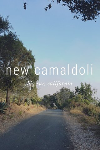 new camaldoli big sur, california