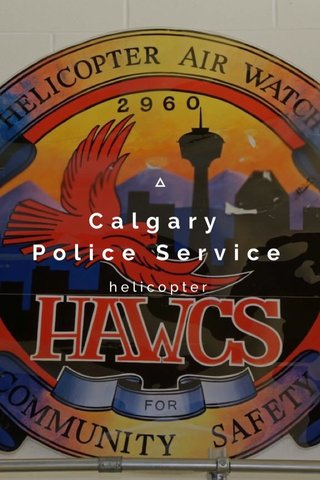 Calgary Police Service helicopter