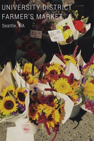 UNIVERSITY DISTRICT FARMER'S MARKET Seattle, WA