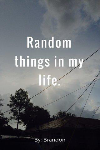 Random things in my life. By: Brandon