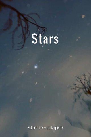 Stars Star time lapse