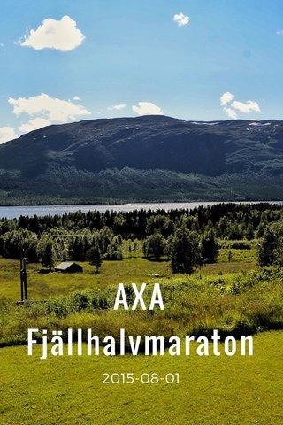 AXA Fjällhalvmaraton 2015-08-01