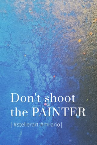 Don't shoot the PAINTER |#stellerart #milano|