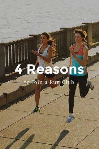4 Reasons to Join a Run Club