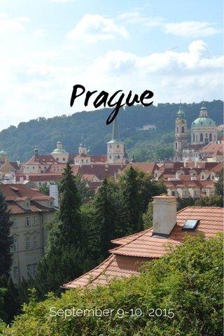 Prague September 9-10, 2015