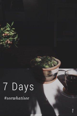7 Days #seewhatisee