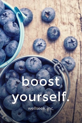 boost yourself. wellseek, inc.