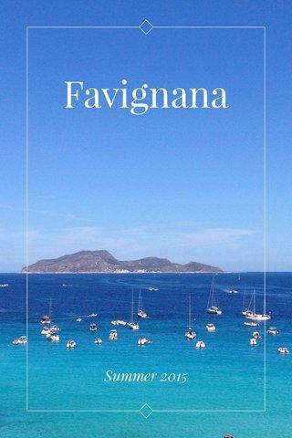 Favignana Summer 2015