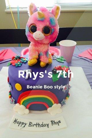 Rhys's 7th Beanie Boo style