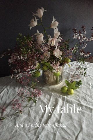 My table And a Spring love affair...