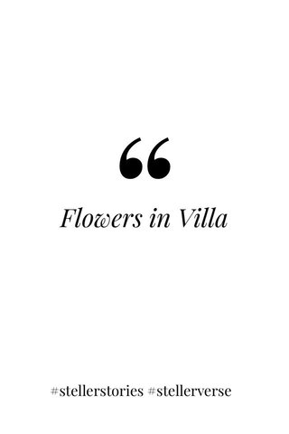 Flowers in Villa #stellerstories #stellerverse