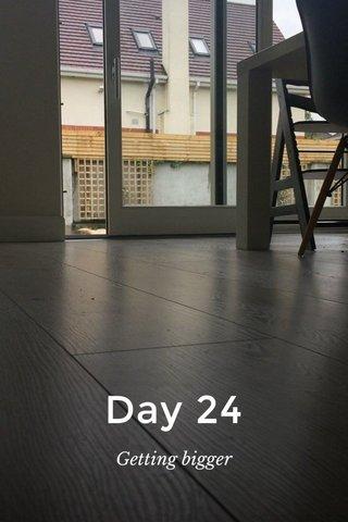 Day 24 Getting bigger