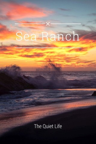 Sea Ranch The Quiet Life
