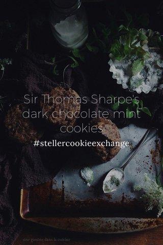 Sir Thomas Sharpe's dark chocolate mint cookies #stellercookieexchange