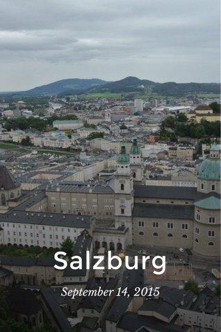 Salzburg September 14, 2015