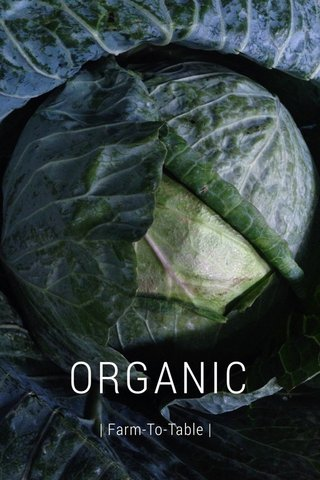 ORGANIC | Farm-To-Table |