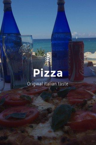 Pizza Original italian taste